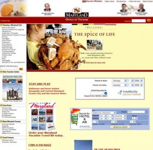 Maryaland's website before