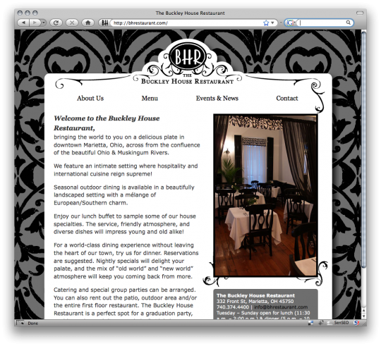 Screen Shot of bhrestaurant.com