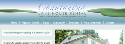 Chautauqua Lake House Website